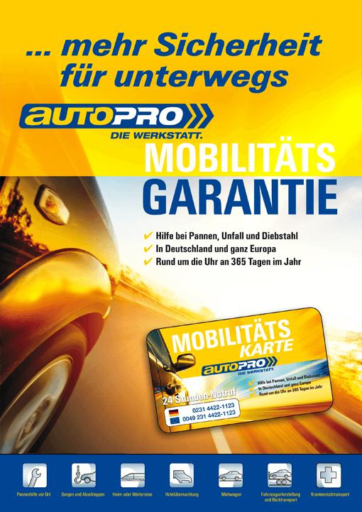 Mobilitätsgarantie autoPRO